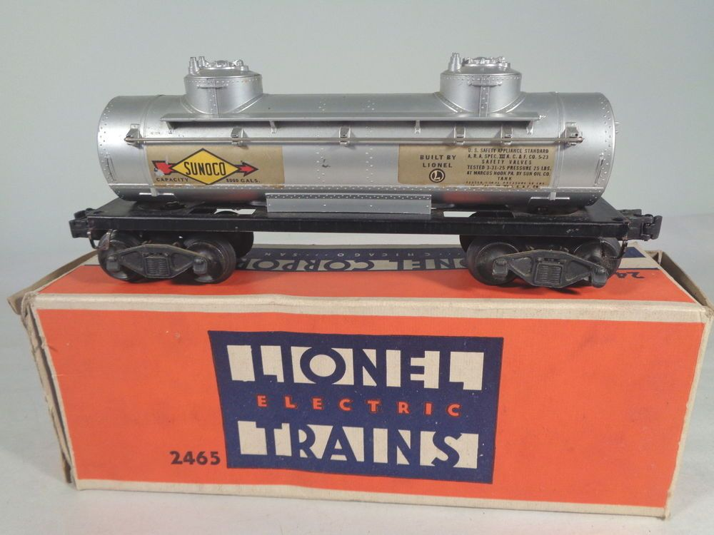 Lionel 2465 Sunoco Tank Car Triple Stamped Ob X2956 Toy And Scale