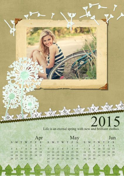 Well Designed Photo Calendar You Will Love It And Want To Keep It