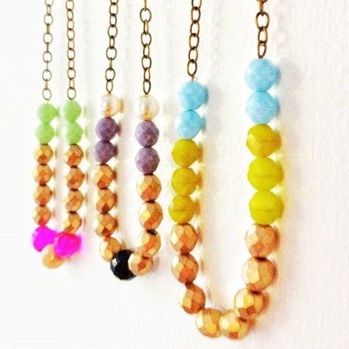 The new Chunky Bead Necklace  Collection is in the shop (Taken with Instagram)