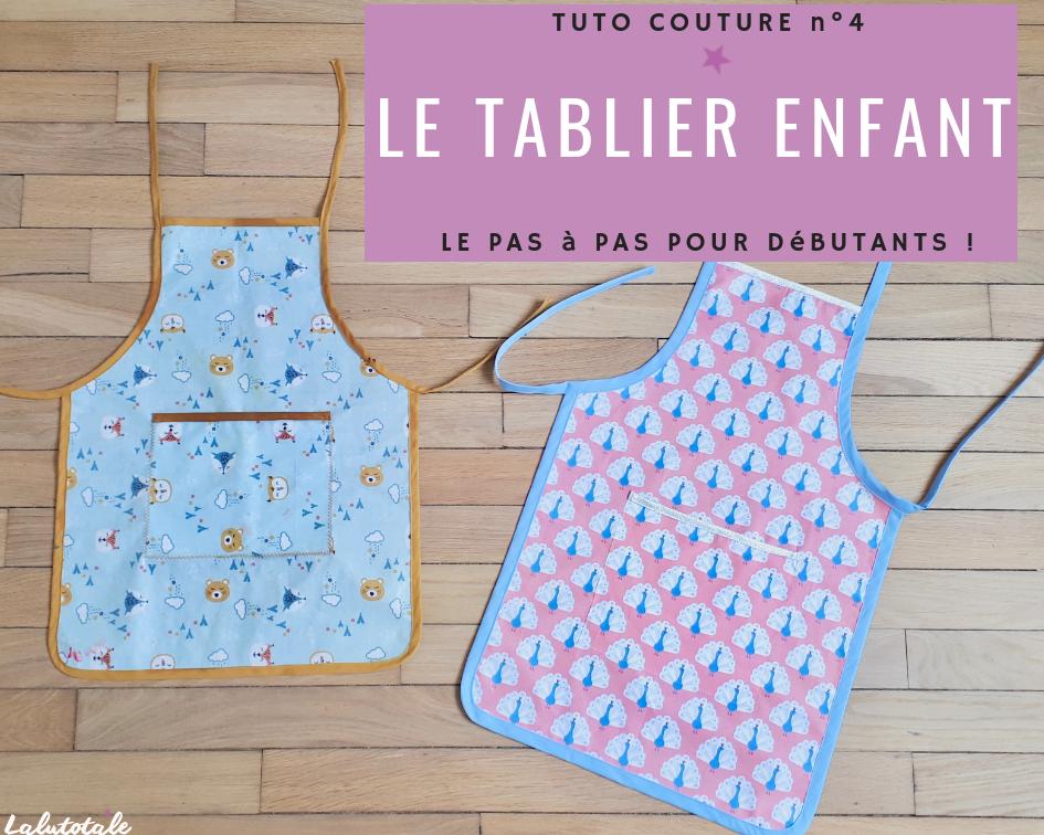 tuto couture débutant tablier enfant DIY tutoriel #tutorielsdecouture