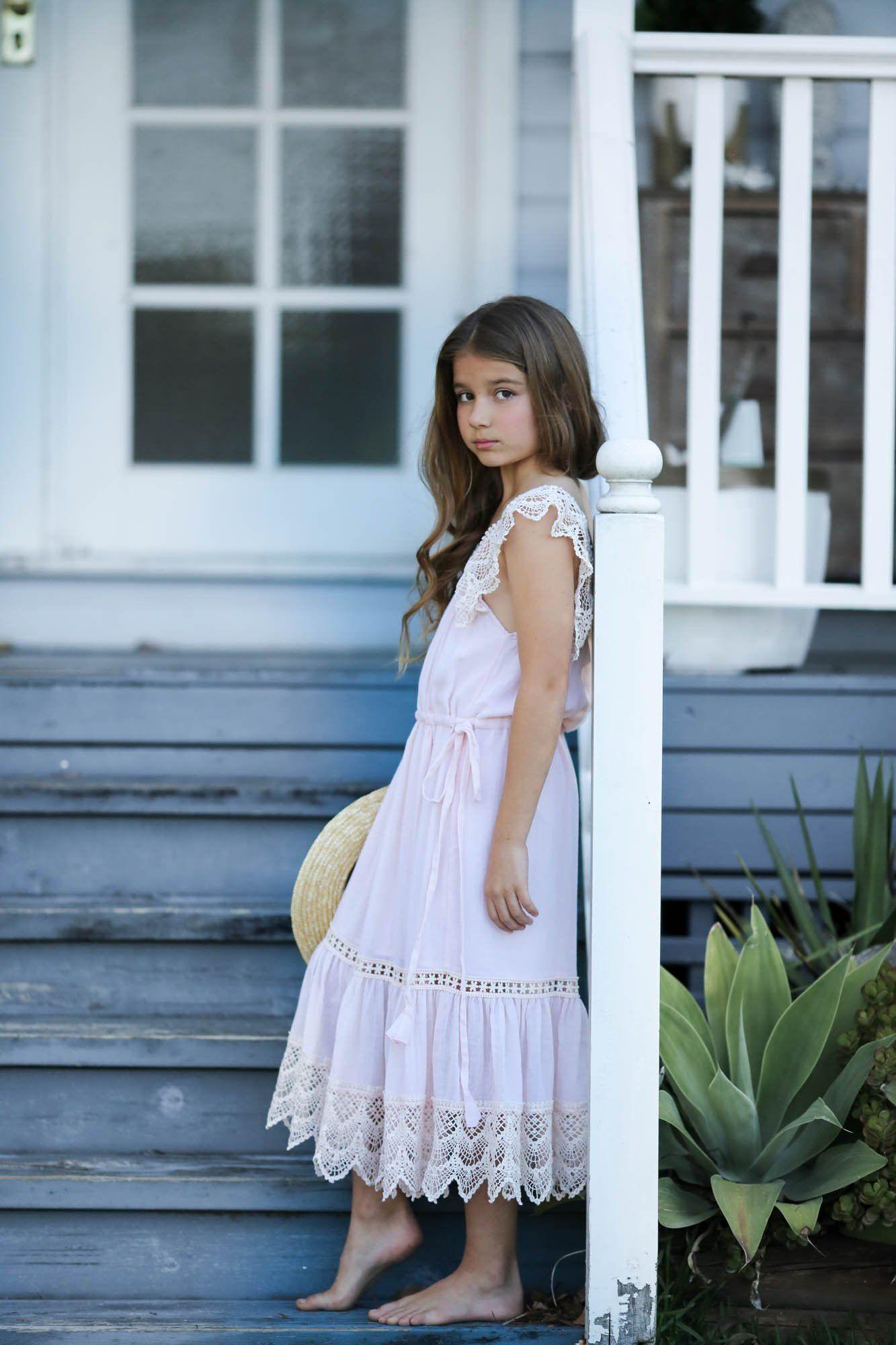 Bloom blush dress tea princess flower girl dresses