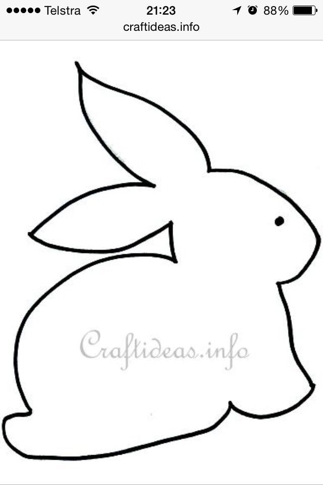 Bunny Stencil | Stained glass | Pinterest | Ostern, Frühling und ...
