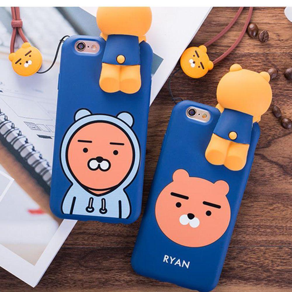 huge discount a28d7 ef9ec Kakao Friends iphone 6,7 Plus Silicone Soft Case Ryan Apeach Muzi ...