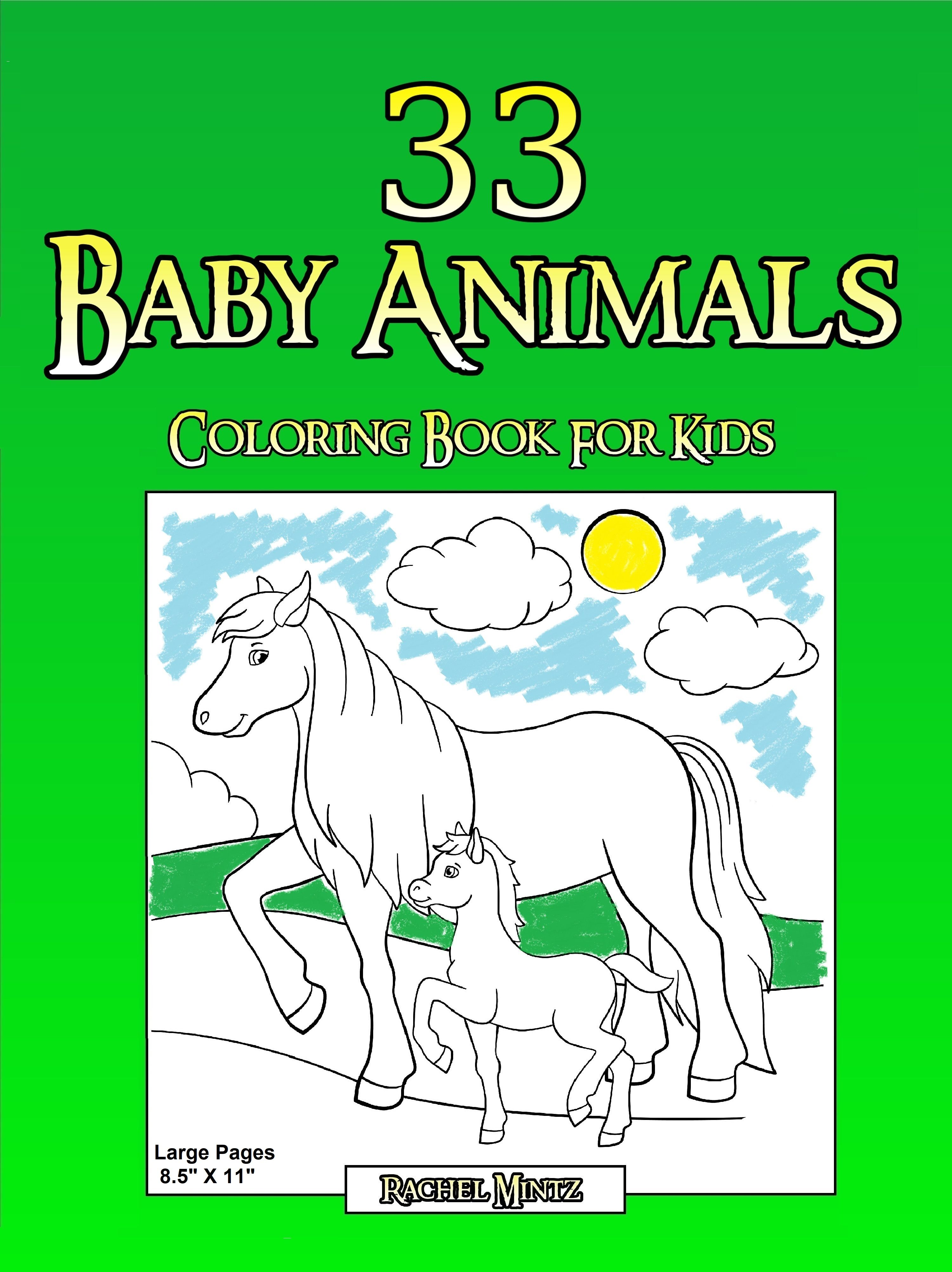 Packed with 33 Coloring Pages For Kids! Large coloring drawings of ...