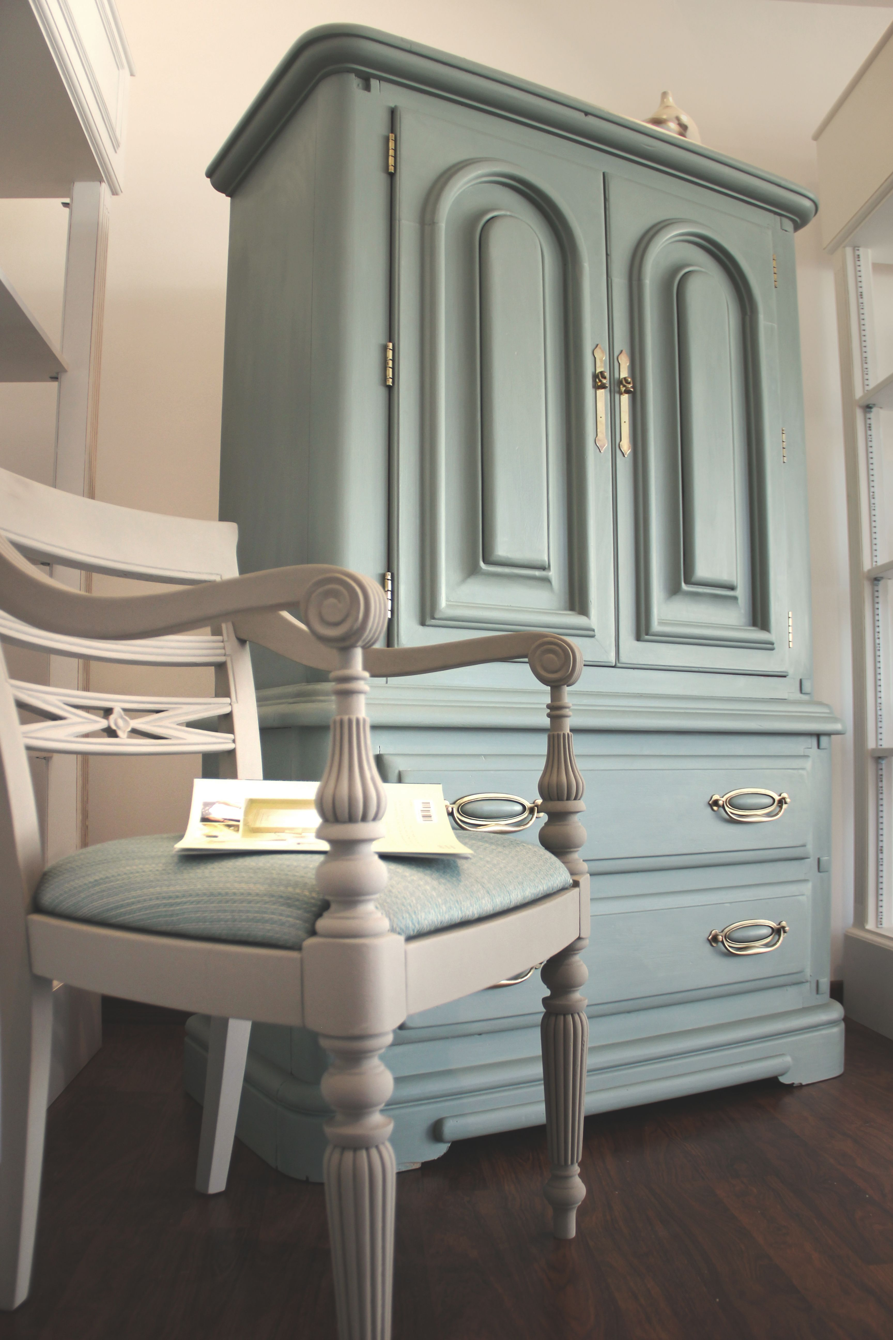 Upcycled Cabinet With Annie Sloan Chalk Paint Duck Egg