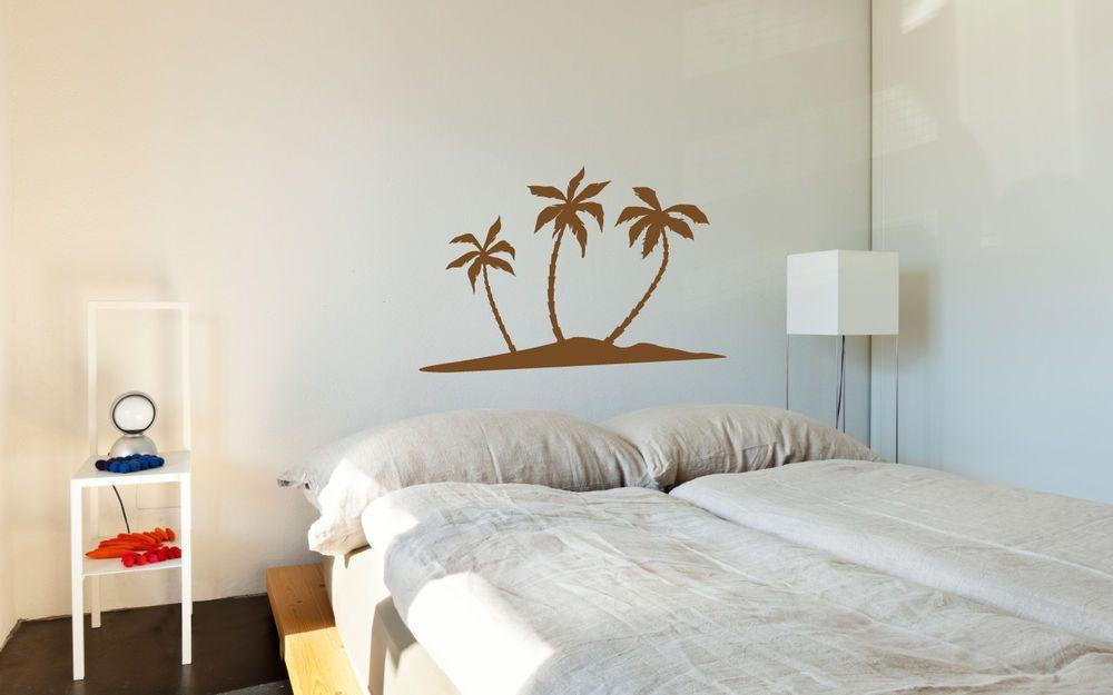 Details zu Wandtattoo Palme, Baum Wandaufkleber, Wohnzimmer Deko w123