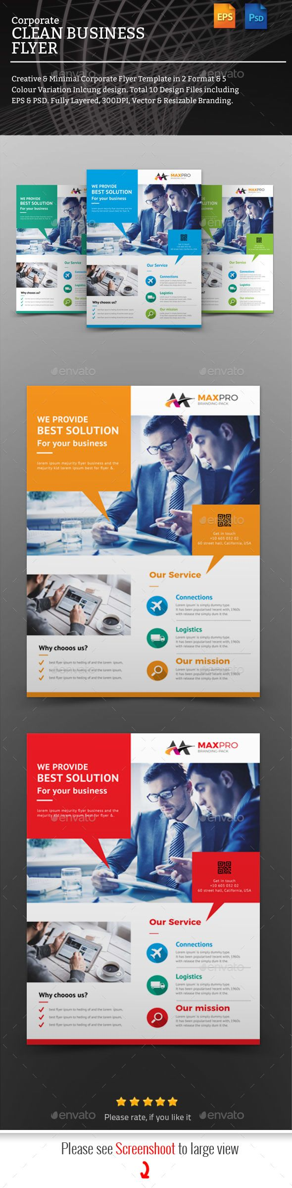 Flyers Flyer Template Very Powerful  Professional Corporate Clean