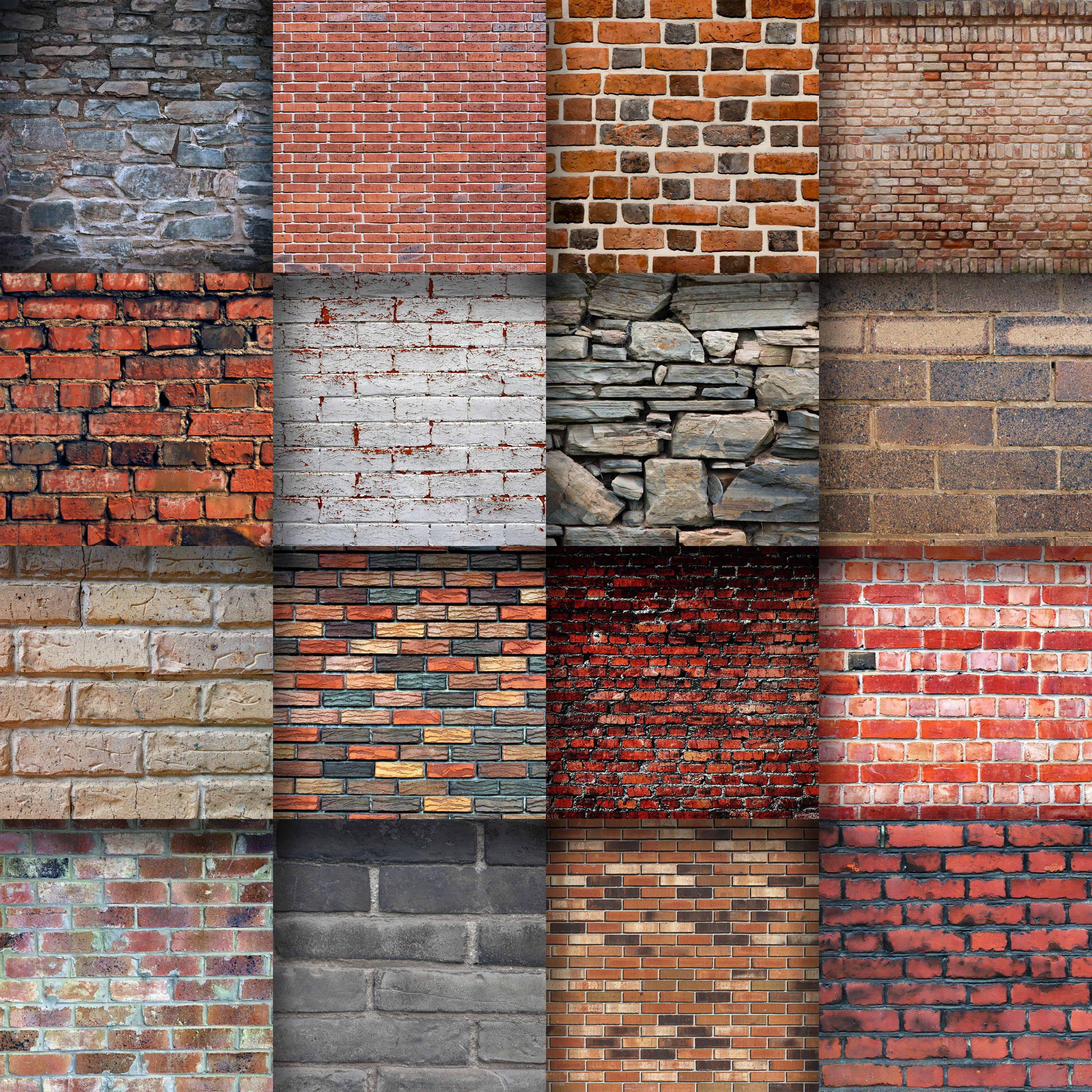 Brick Wall Textures Digital Paper 37219 Backgrounds Design