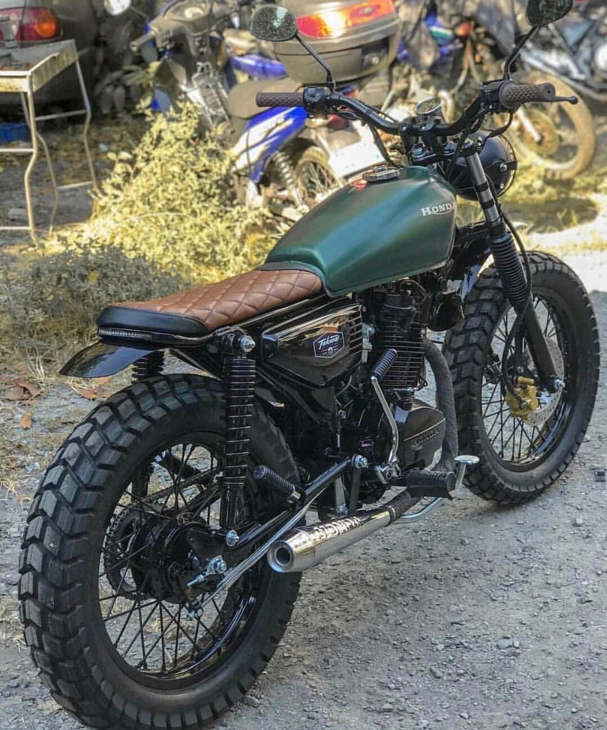 medium resolution of honda scrambler green and brown honda scrambler honda cb400 yamaha scrambler motorcycle