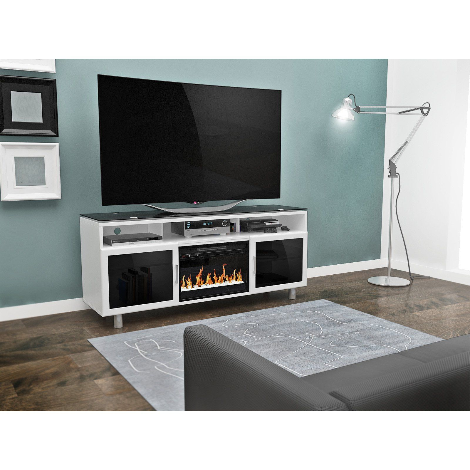 z line bowden 70 in electric fireplace entertainment center