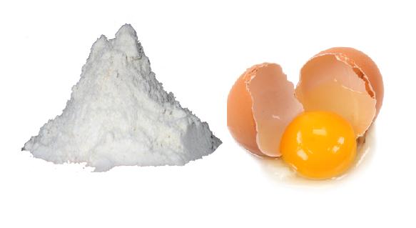 Triệt lông nách bằng bột ngô và trứng gà