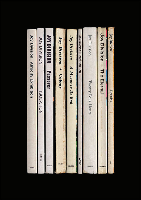 Joy Division Closer Album As Books Poster Print Joy Division