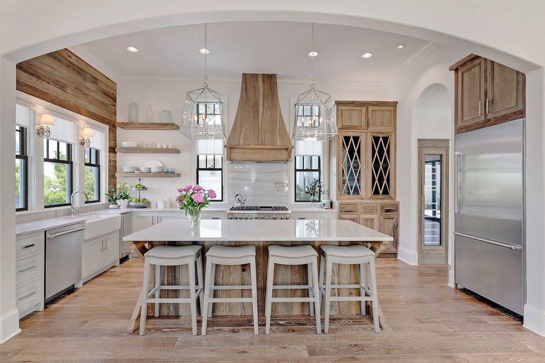 Best Kitchen Gallery: Choosing Hardwood Floor Stains Coastal Kitchens And House of Coastal Stained Kitchen Cabinets on cal-ite.com