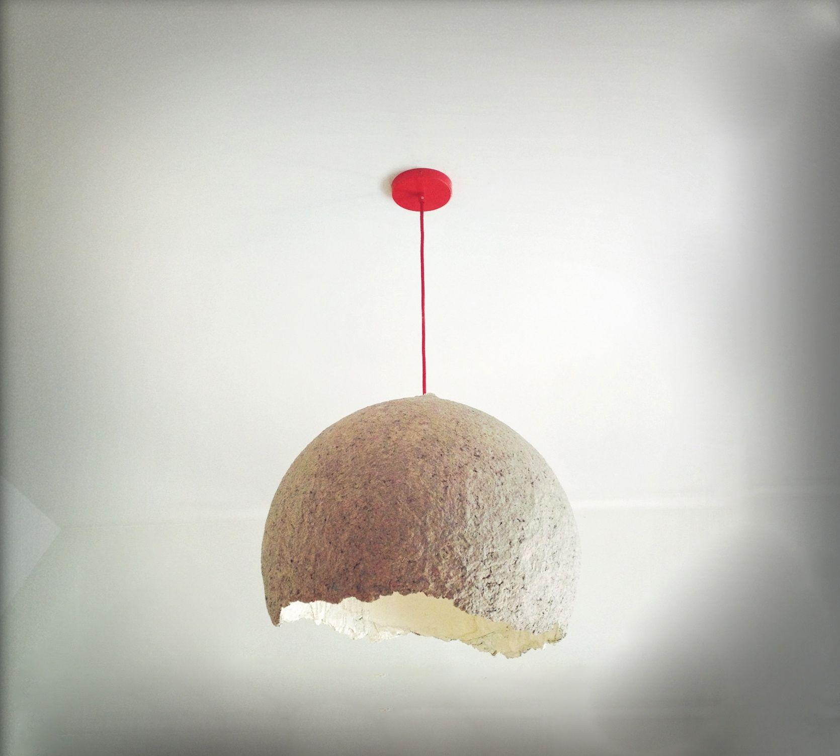 Diy How To Make A Paper Mache Lamp Lamparas De Papel Papel De Bricolaje Manualidades Con Globos
