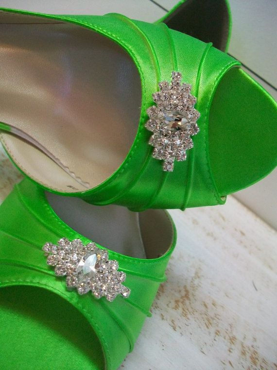 Lime Green Wedding Shoes Over 100 Colors Dyeable Wide Sizes