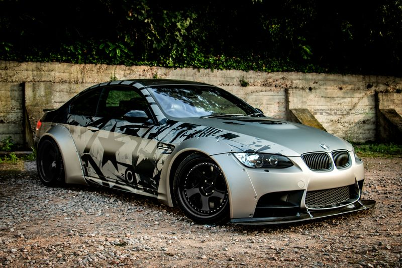 Silver/Black wrap Schicke autos, Autos und motorräder