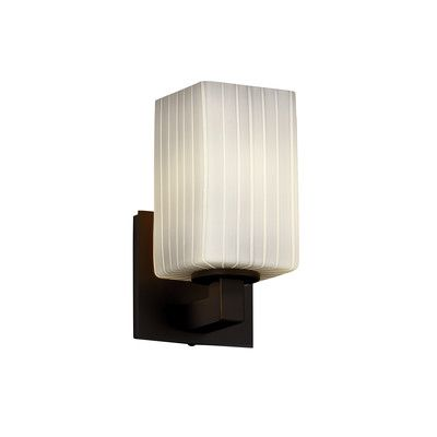 Justice Design Group Modular Fusion 1 Light Wall Sconce Shade Color Weave Finish