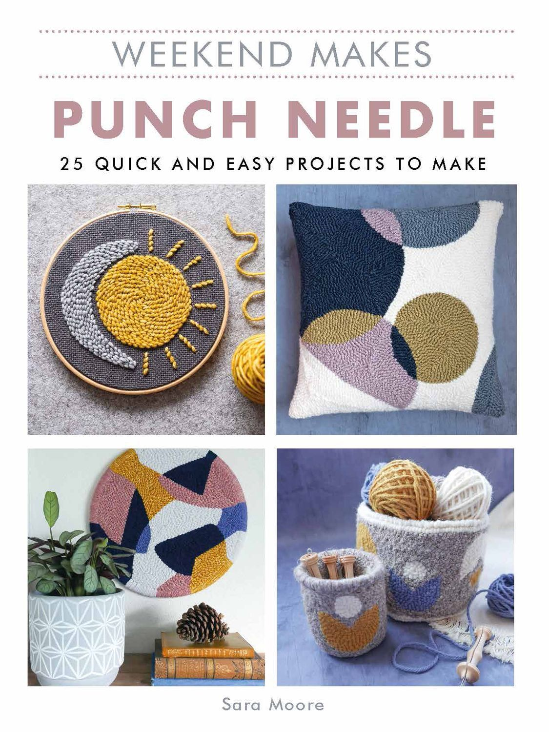 Get creative and learn a new hobby with the help of the Weekend Makes: Needle Punching book by Sara Moore. Punch Needle is one of the hottest trends in needlecraft right now. It's fun and fast, and social media platforms such as Instagram and Pinterest are awash with inspiring ideas and beautiful designs! With 25 quick and easy punch needle designs, this book is a great way to learn the craft or challenge yourself with a new design idea. This title introduces you to the basics of the craft, incl