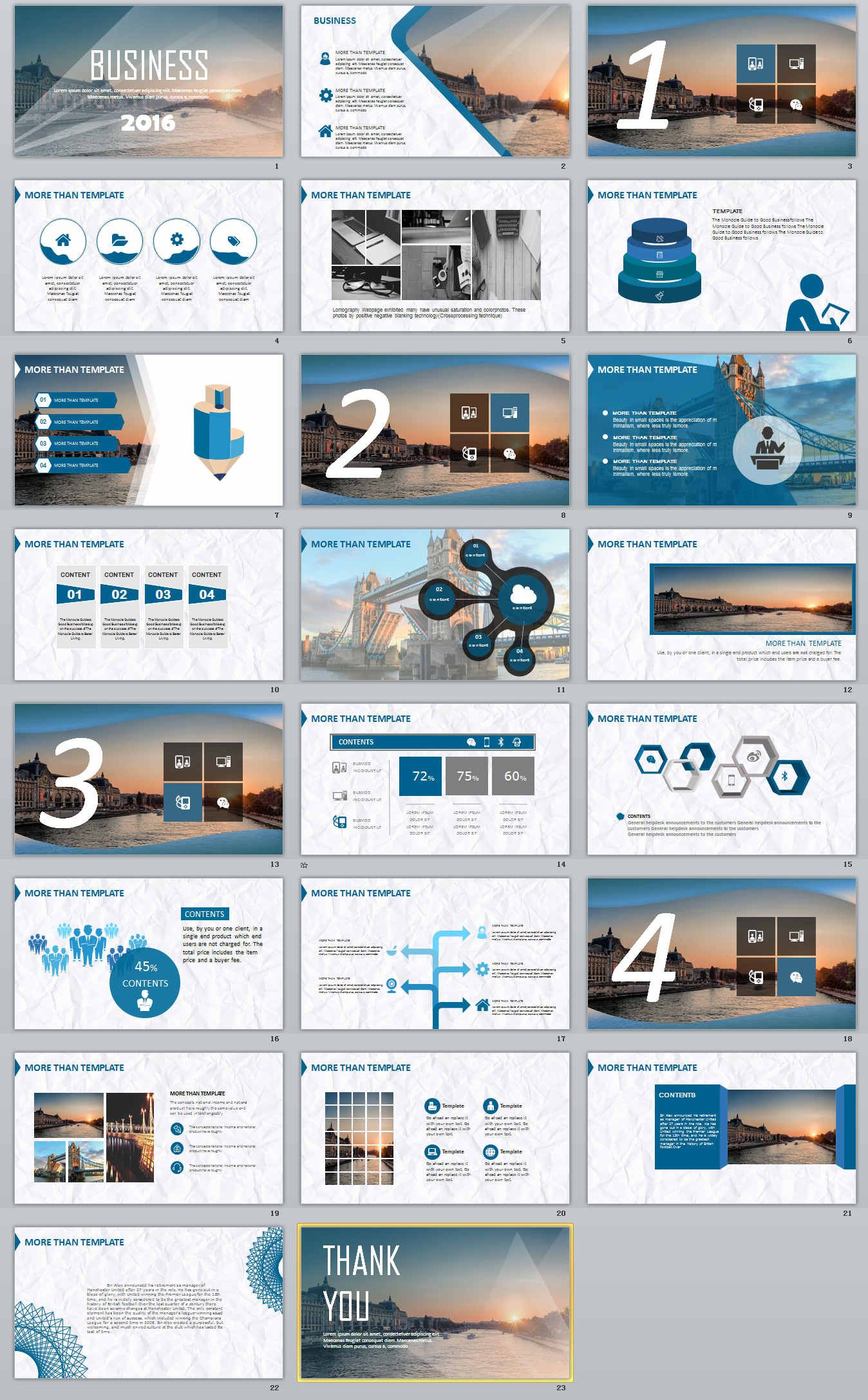 23 business professional powerpoint template download deck