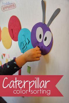 Caterpillar Color Sorting Activities Crafts and School