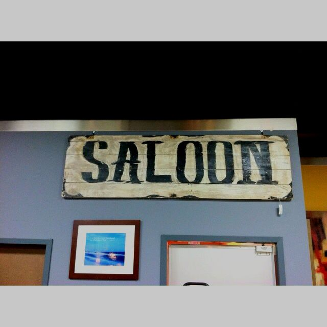 Vintage Saloon Sign Consign To Design Knoxville Tn Design Store Decor Saloon