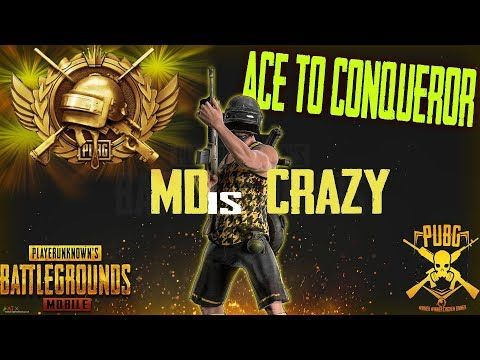 Ace To Conqueror With Mdiscrazy In Pubg Mobile 1 English Hindi