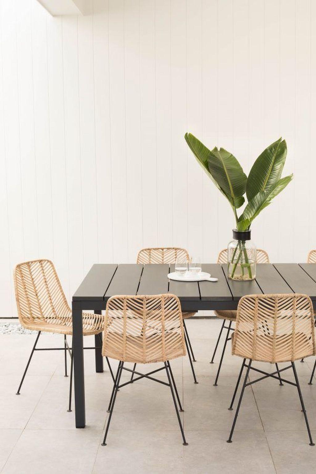 39 Gorgeous Rattan Furniture Design Ideas | Rattan dining