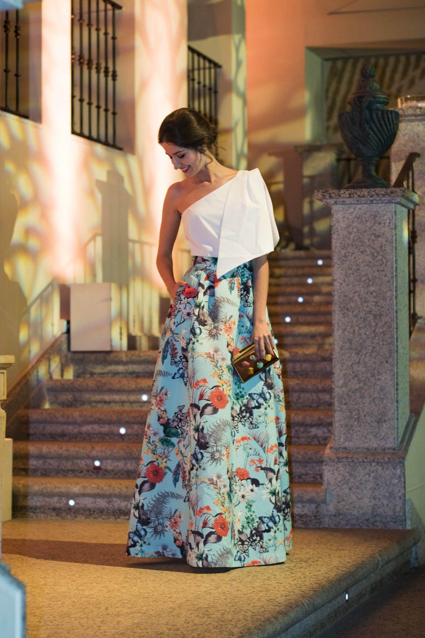 59c97425d Invitada boda tarde noche falda estapada volumen Apparentia ...