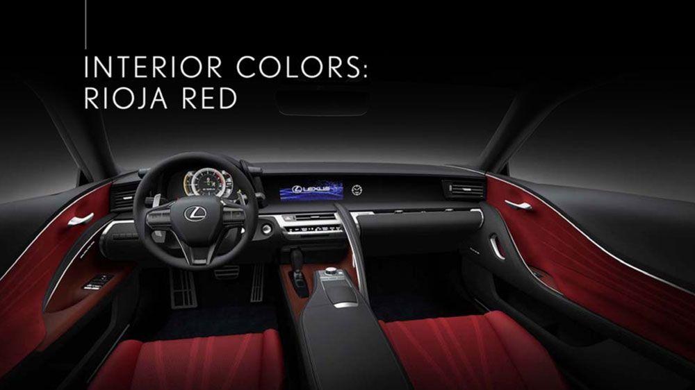 Lexus LC Interior Red