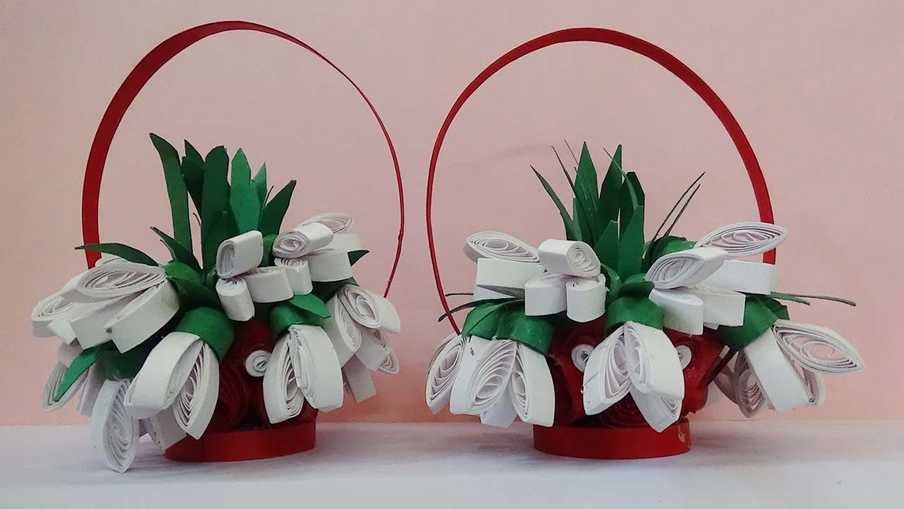 Quilling artwork how to make 3d quilling flower basket quilling artwork how to make 3d quilling flower basket youtube mightylinksfo
