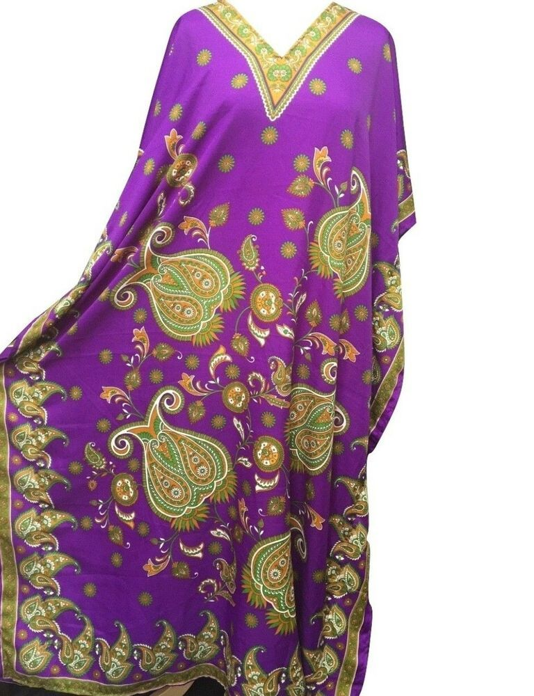 Free Size Kaftan Tunic Holiday Top Beach cover up 14,16,18,20,22,24,24
