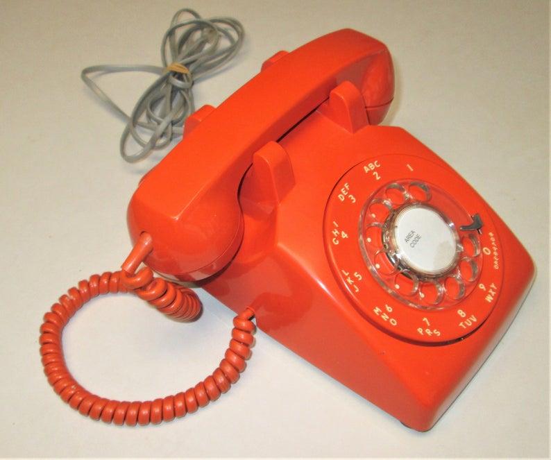 Avon Lake Halloween 2020 Vintage STROMBERG CARLSON Orange Rotary Dial Telephone Dated