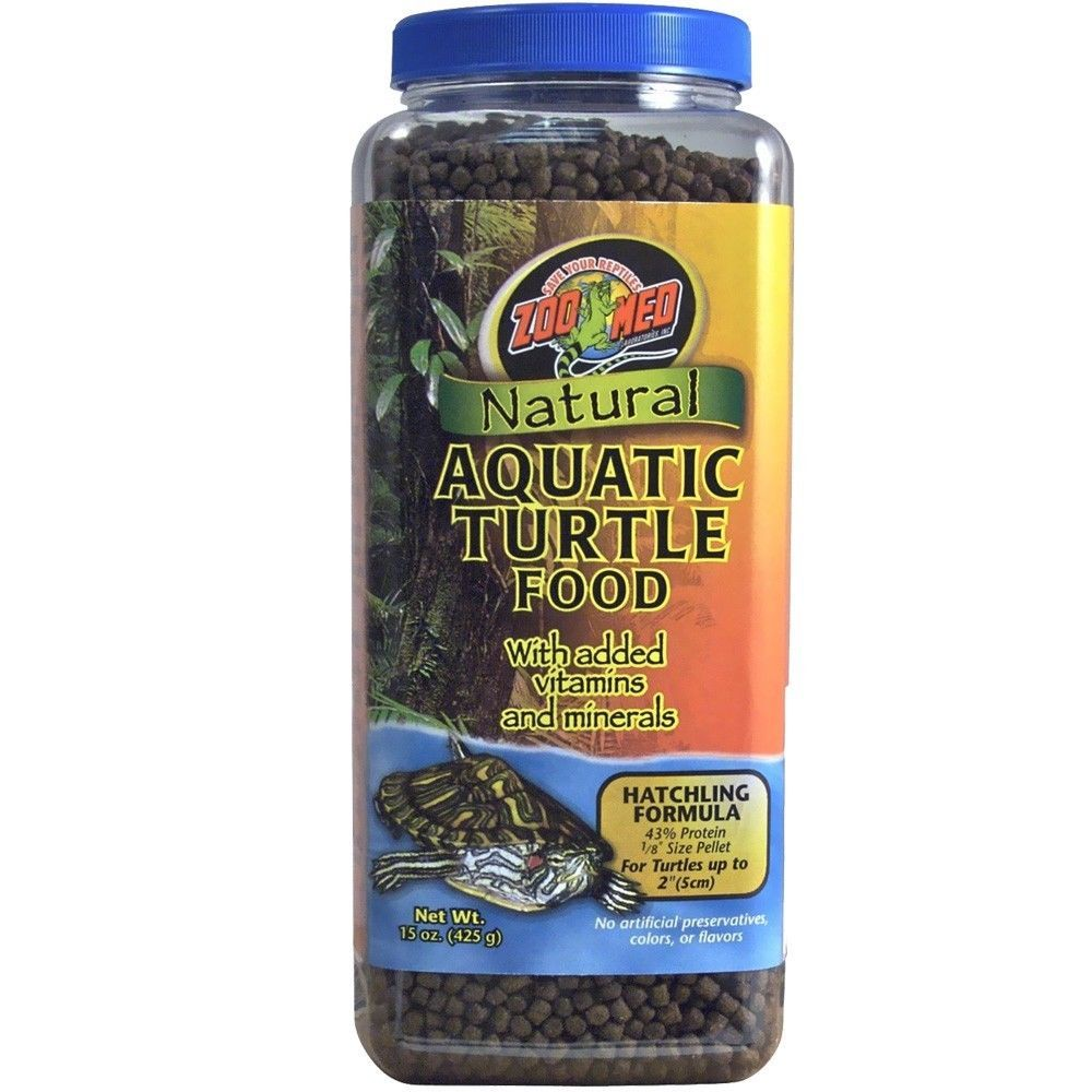Zoo Med Natural Aquatic Turtle Food Hatchling Formula 15 oz