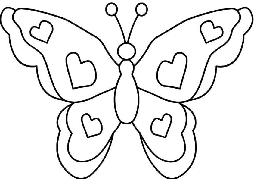 Love butterfly coloring for kids butterfly coloring pages