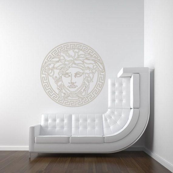 Greek Medusa Wall Decal Designer Versace Inspired (#CEV1) & Greek Medusa Wall Decal Designer Versace Inspired (#CEV1) | Medusa ...