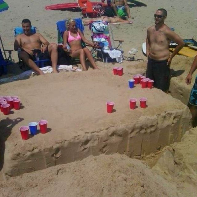 Beer Pong Table Made From Sand Have To Try Making That
