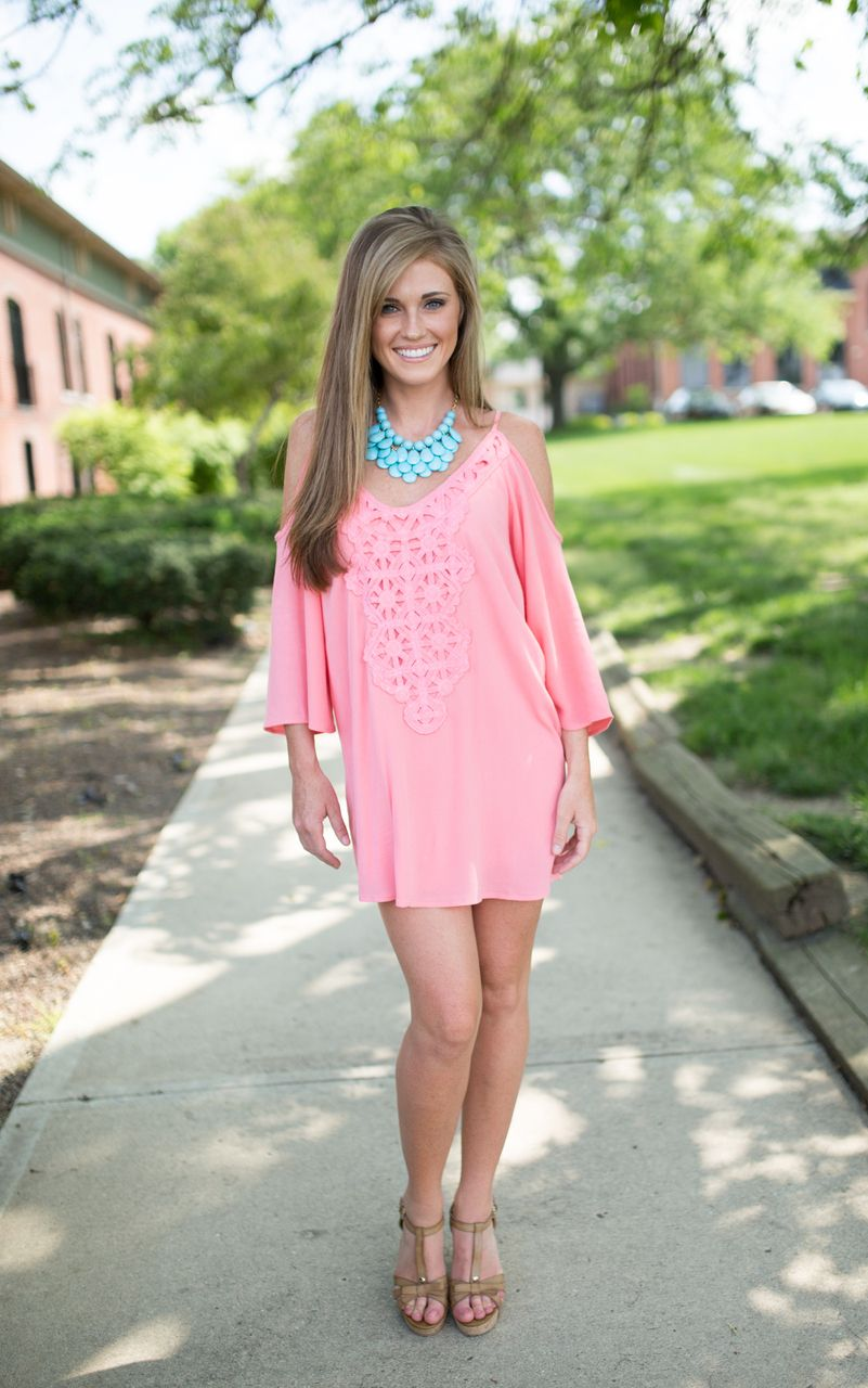 Magnolia Boutique Indianapolis - Off the Shoulder Crochet Dress ...