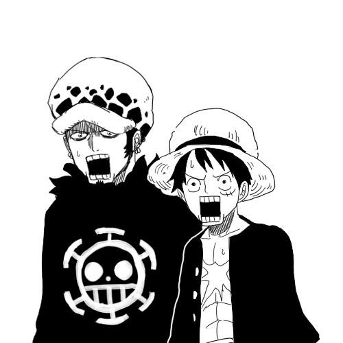 Luffy And Trafalgar Law Surprised Manga Anime One Piece One Piece Drawing One Piece Comic