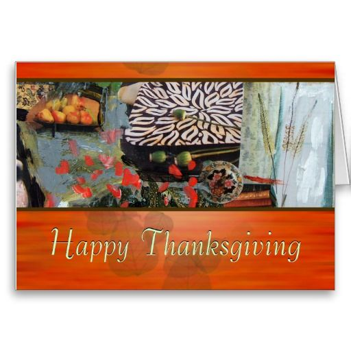 Happy Thanksgiving Modern Customizable Card
