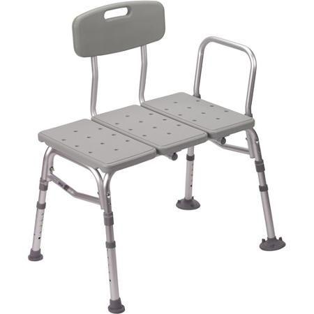 Drive Medical Plastic Shower Tub Transfer Bench With Adjustable Backrest    Walmart.com