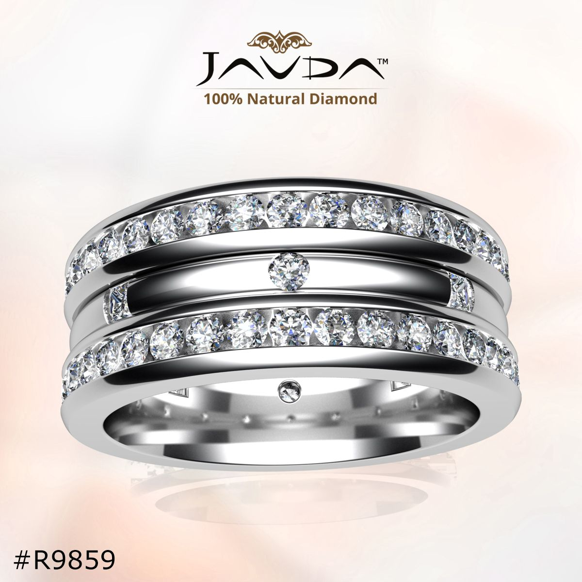 collection wedding band made in 14k & 18k white