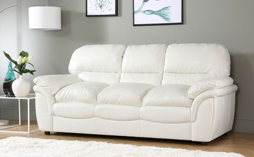 Rochester Ivory Leather 2 Seater Sofa 2 Seater Sofa Furniture
