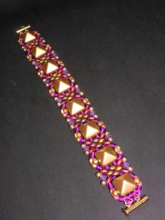 18cababe41f8c Tutorial Tina Superduo and Pyramid beads Beadwork Bracelet PDF ...