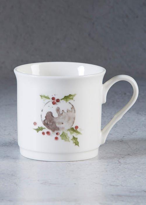 Christmas Pudding Mug 9cm X 9cm Mugs Home Furnishing Accessories Christmas Pudding