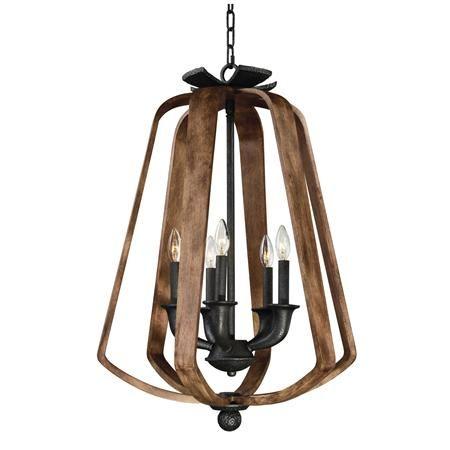 Large Bent Wood Lantern