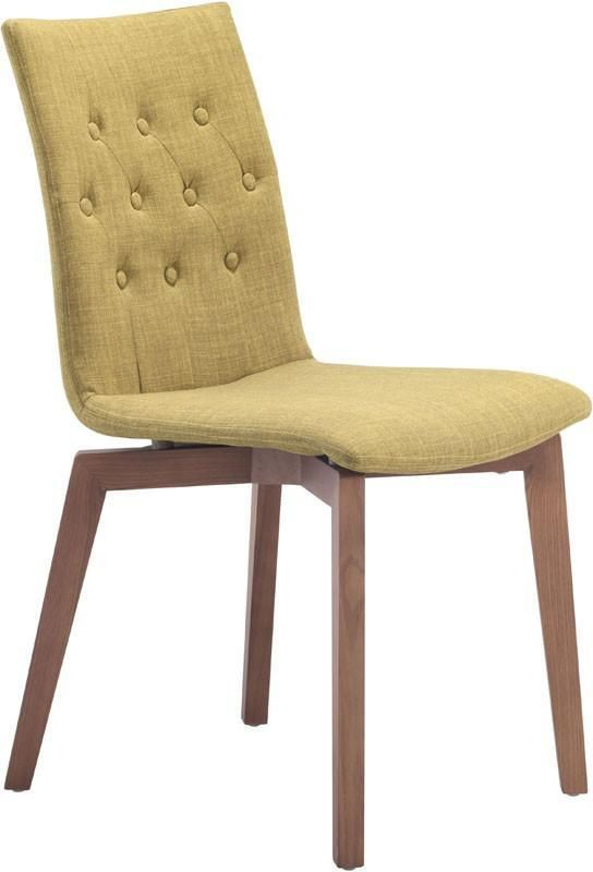 Zuo Modern 100072 Orebro Dining Chair Color Pea Solid Wood Finish