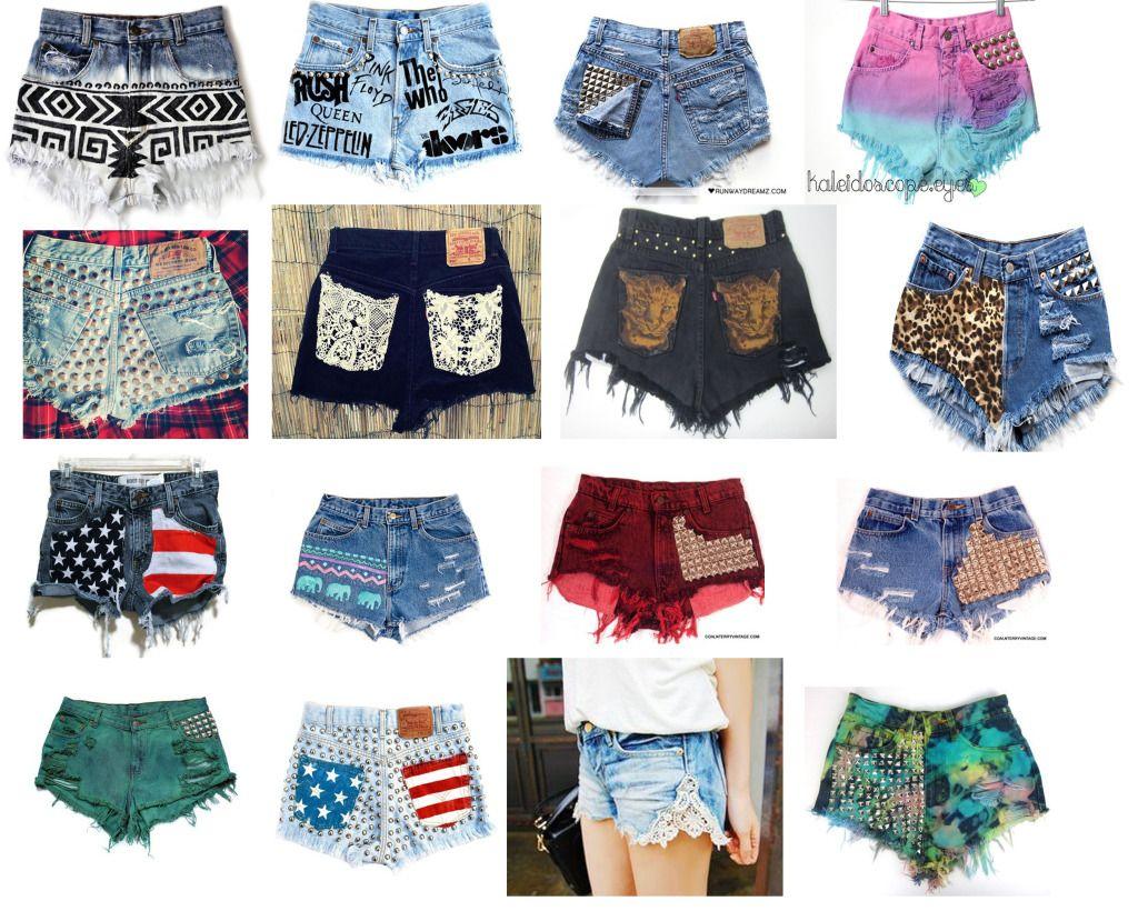 DIY shorts designs | Diy shorts, Designer shorts, Diy clothes