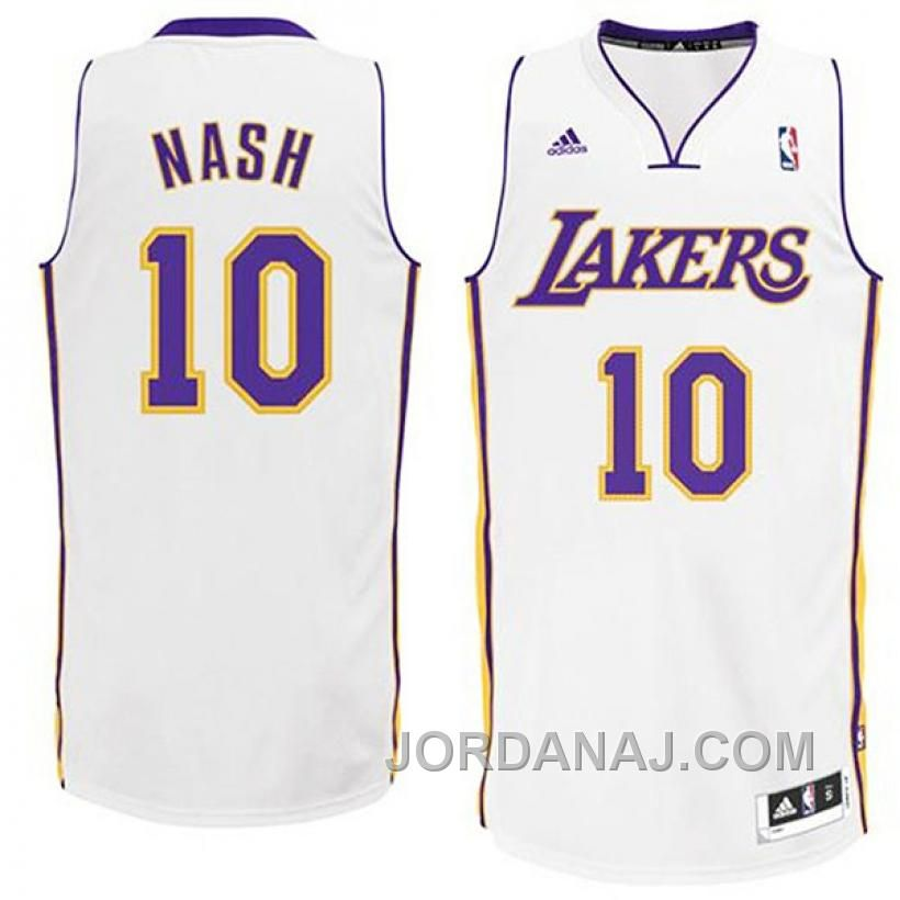08b89bfd5b7 ... Buy Steve Nash Los Angeles Lakers Revolution 30 White Swingman Jersey  from Reliable Steve Nash Los .