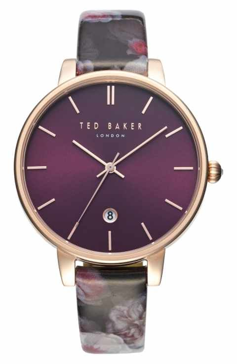 e99bb69876a Ted Baker London Kate Print Leather Strap Watch
