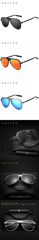 6ca6dc9041 GUZTAG Unisex Classic Brand Men Aluminum Sunglasses HD Polarized UV400  Mirror Male Sun Glasses Women For